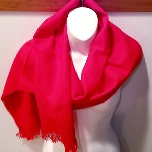 NEW VINTAGE Cherry Red Winter Scarf